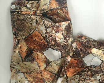 Snakeskin Satin Cropped Pants