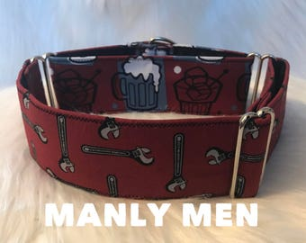 Manly Men: boy dog collar, tools, beer, drinks