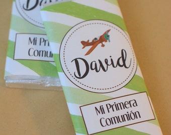 Candy bar personalized child, communion, birthday, gift children