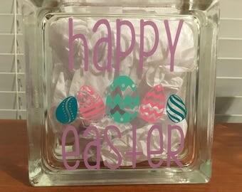 Easter Decor, Easter Glass Block