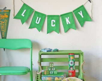 Little Letterman LUCKY Bunting St Patricks Day