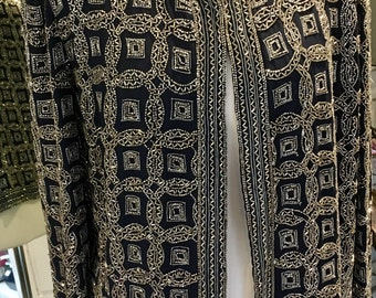 Vintage Frank Usher heavily beaded evening jacket 1980's size medium