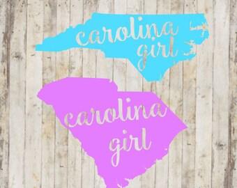 Carolina Girl, Simply Southern, South Carolina Decal, Monogram Decal, Yeti Decal, Car Decal, North Carolina Decal, Vinyl Decal,