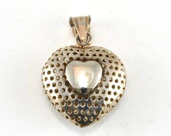 Heart Pendant, Valentines Gift, Gift For Her, Sterling Pendant, Vintage Pendant, Sterling Jewelry