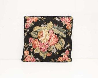 Vintage Canvas Stitch Cushion