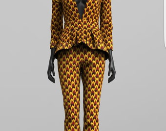 Custom Made African Print Pant Suit