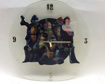Ninja Turtles Picture Disc Clock