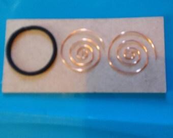 18 gauge copper wire spiral hoop