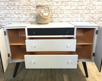 Retro Mid Century Painted Buffet Sideboard