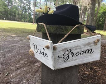Rustic country chic wedding signs