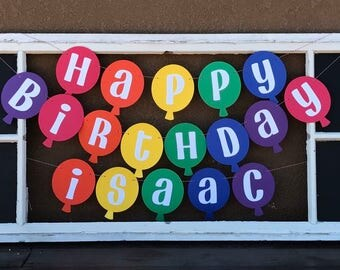 Balloon Themed Birthday Banner