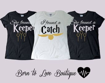 Harry Potter -Catch/Keeper Bridal party shirts, Bridesmaid gift, bridesmaid shirt, Bachelorette party shirts, Package deal 2,3,4,5,6,7...etc