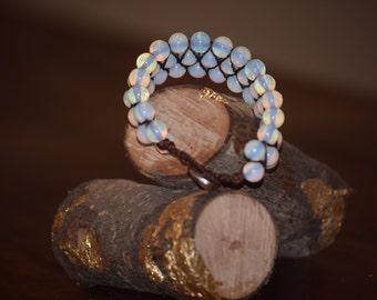 Moonstone Bracelet (Triple Wide)