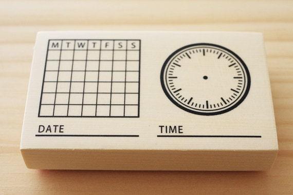 Calendar Sheet Rubber : Clearance sale rubber stamp of monthly calendar