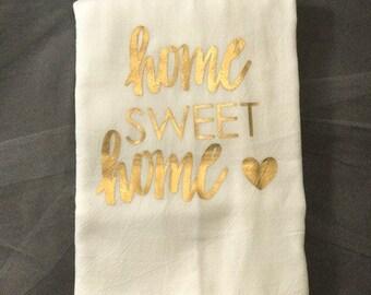 home sweet home tea towel-set of two