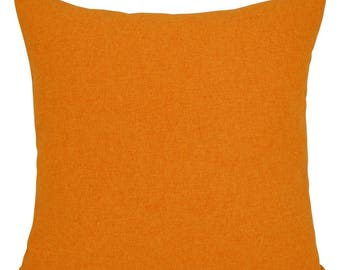 Brushed Shetland Orange Cushion with Fillers Various Sizes 28cm , 36cm, 43cm , 60cm