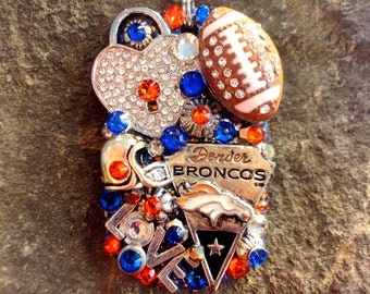 Denver Broncos Dog Tag Pendant