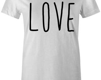 LOVE Womens T-Shirt - Valentines Dating Single Cool Marriage Engaged Top Gift