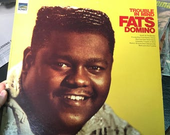 "Fats Domino ""Trouble in the Mind"" Vinyl record Album LP"
