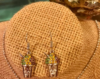 New Orleans Snow Ball Earrings
