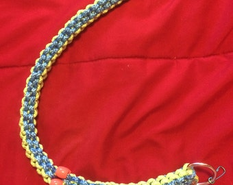 sky blue and light green paracord key chain