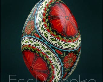 Real Ukrainian Pysanky. Goose Pysanka. Hand made High Quality by Roman. Easter Egg