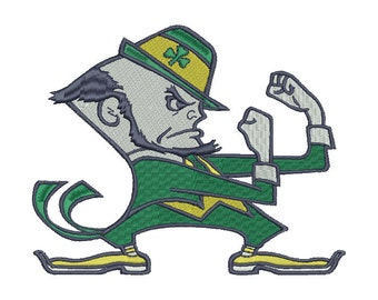 Notre Dame Fighting Irish Embroidery Design - 5 SIZES