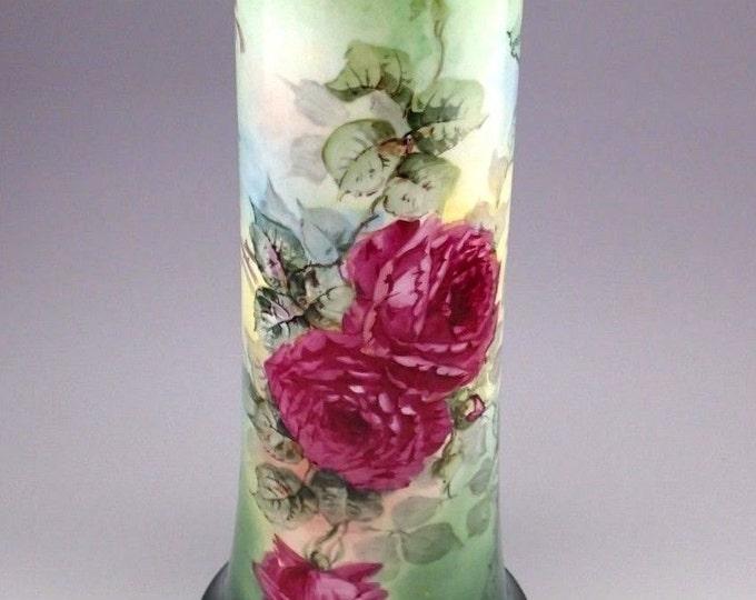 Oversized Antique Wm. Guerin Limoges Vase