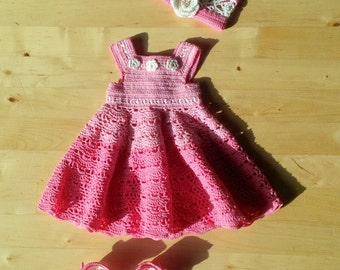 Waldorf doll dress 38-40 cm (15-16 inch) doll's clothes, little dress, Puppenkleid Walldorf