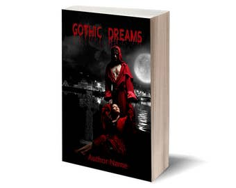 Gothic Dreams - Personalized Book Cover / Publish Yourself! / Digital art - cover illustration / Gift: cover for Facebook.