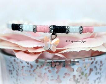 Butterfly ring, swarovski crystal bracelet
