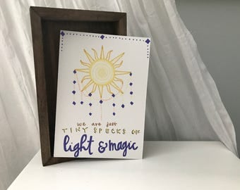 Light and Magic Print