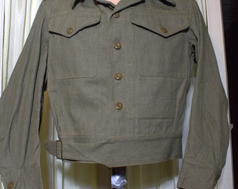 VERY RARE! 1945 World War 2 British Military Denim Jacket ,Selvedge Denim , NWOT  Never worn ,Overalls,Blouse.