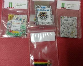 Mini coloring book set