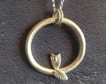 Beautiful Sterling Silver Owl Necklace
