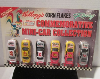 1996 Kellogg mini race cars nascar collection original in package car lot