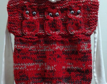 Knitted Child's Owl Vest