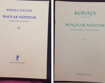 6 Music Books - Hungarian Folksongs and Folk Music