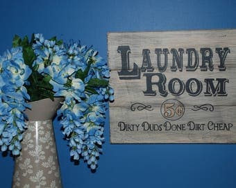 Vintage Laundry Room Sign/Wood Sign/Shabby Chic Wall Art/Laundry Room Decor/Farmhouse Decor/Distressed Sign/Laundry Sign/Laundry Decor