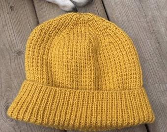Broken Rib Slouch Hat (in mustard yellow)