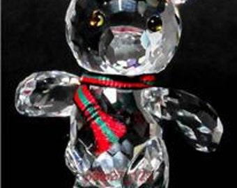 Swarovski Crystal Kris Bear  ~ On Skates ~ Vintage Crystal-Crystal Ornament-Swarovski Bear-Kris Bear