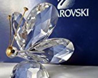 Swarovski Silver Crystal ~ Large  Butterfly ~ Stunning ! Swarovski Vintage Butterfly-