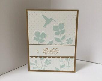 Wildflower Meadow Birthday Card