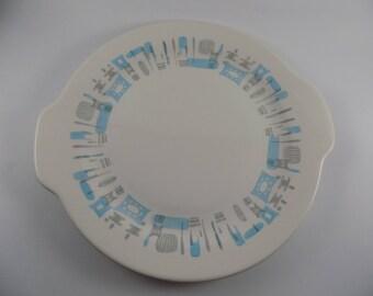 Vintage Blue Heaven Cake/Serving Platter 1950's