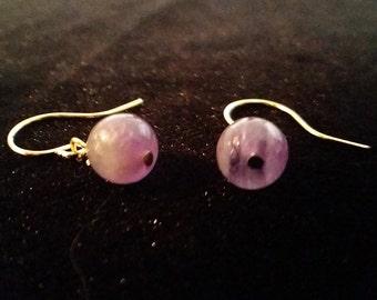 Amethyst Earrings - Silver or Gold