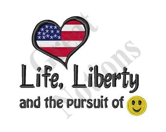 Pursuit Of Happiness - Machine Embroidery Design