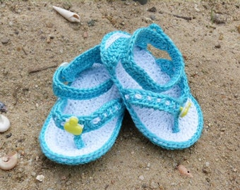 Baby sandals, crocheted baby booties, Babysandals, unique