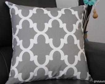 """Grey Cushion Cover, 20"""" x 20"""", Accent cushion"""