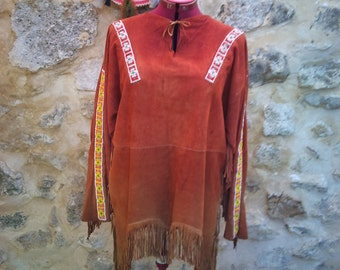 Native American tunic fringes and beads