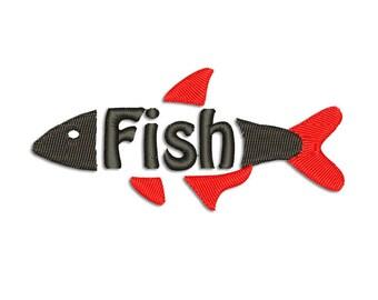 Fish Embroidery design - Machine embroidery design